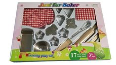 Just For Baker 17PC Tin Bakeware Play Set -- AMAZON BEST BUY #KidsBaking Real Baking, Baking With Kids, Baking Supply Store, Baking Supplies, Bakeware, Kids House, Tin, Cool Things To Buy, Play