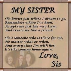 sister quotes - Bing Images