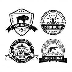 Set of vintage hunter sport badges Premium Vector Retro Background, Background Patterns, Textured Background, Free Vector Illustration, City Illustration, Memphis Pattern, How To Age Paper, Memphis Design, Wedding Card Design
