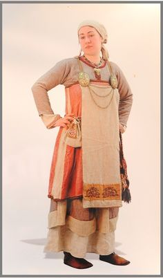 This is a recreation of Rus Slavic Dress from the Ladoga Museum in Russia....OMG