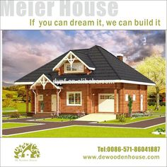 2 storey 3 bedrooms wooden house design DY-E-210