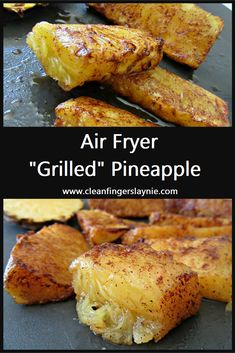 Air Fryer Grilled Pineapple Best Picture For air frying breakfast For Your Taste You are looking for something, and it is going to tell you exactly what you are looking for, and you didn't find that p Air Frier Recipes, Air Fryer Oven Recipes, Air Fryer Dinner Recipes, Farberware Air Fryer, Grilled Pineapple Recipe, Cooked Pineapple, Pineapple Recipes, Cooking Recipes, Deserts