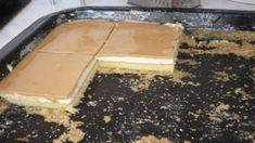 Tvarohový koláčik so Salkom: Nečakajte nič presladené – je taký fantastický, že z tvarohu doma už nič iné nepečieme! Griddle Pan, Pudding, Tacos, Candy, Chocolate, Food, Recipes, Basket, Sheet Metal