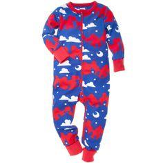 Pyjamas i ekologisk bomull. Trycket består av djur i natten. Blixtlås från hals till benslut underlättar av- och påklädning. Upp- och nedvikbara enfärgade muddar. Extra mjuka sömmar som inte skaver. Fötter på stl 50/56 och 62/68.   100 % bomull