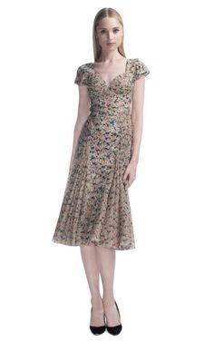 Comprar Vestido de cóctel de gasa con estampado de rosas Harlem Zac Posen en Moda Operandi