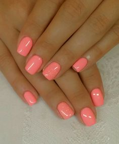 Classy Nails, Stylish Nails, Trendy Nails, Coral Nails, Shellac Nail Colors, Summer Shellac Nails, Shellac Toes, Summer Nail Polish, Summer Toe Nails