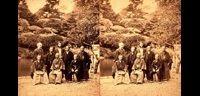 (左から)未詳・ファルケンボルグ・未詳・稲葉正巳・未詳・大関増裕・石川重正・江連尭則-ステレオ写真-