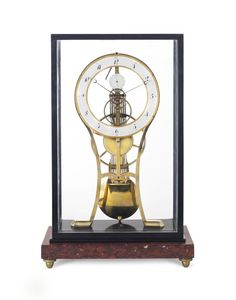 date unspecified A FRENCH KEYHOLE FRAMED SKELETON TIMEPIECE  FIRST QUARTER 19TH CENTURY  Price realised USD 13,750
