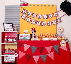 Dalmatian Fire Fighter Birthday Party Package Personalized FULL Collection Set  - PRINTABLE DIY - PS814x. $35.00, via Etsy.