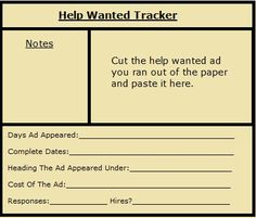 job vacancy advertisement sample