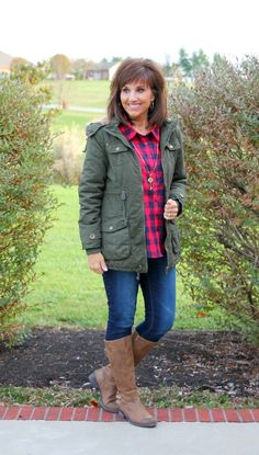Classic anorak coat is stylish and perfect for cold weather!
