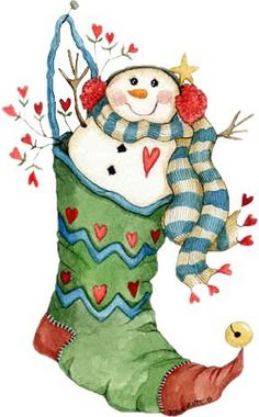 Stocking snowman #clipart #holiday #holidayclipart #christmas #patterns #colored #paintpatterns #designs