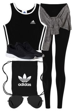 A fashion look from August 2016 featuring relaxed fit leggings, adidas and pull on shoes. Browse and shop related looks. Cute Workout Outfits, Cute Swag Outfits, Cute Comfy Outfits, Sporty Outfits, Athletic Outfits, Mode Outfits, Dance Outfits, Trendy Outfits, Girls Fashion Clothes