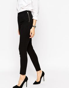 Image 4 ofASOS High Waist Trousers with Zips
