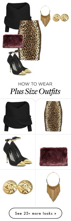 """""""plus size beyond diva"""" by kristie-payne on Polyvore featuring Balmain, Milly, Fiona Paxton and Chanel"""