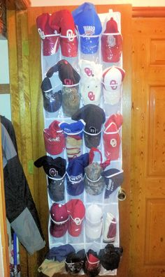Organize your baseball hats with an over the door cap organizer organize it all products - Creative ways to store your magazines ...