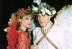 1978 -Loulou de la Falaise & Thadée Klossowski at Le Palace. Angels & Demons Bal