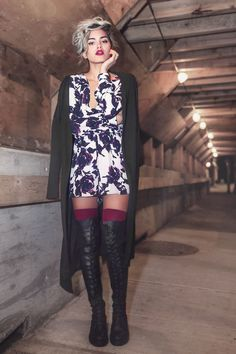 Alanna from Xander Vintage in the Colin Knee High Boots || Get the boots: http://www.nastygal.com/shoes-boots-knee-high/shoe-cult-colin-knee-high-boot?utm_source=pinterest&utm_medium=smm&utm_term=ngdib&utm_content=the_cult&utm_campaign=pinterest_nastygal