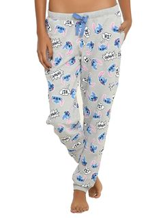 Disney Lilo & Stitch Tossed Stitch Girls Pajama Pants | Hot Topic