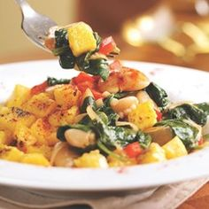 Catalan Sauteed Polenta & Butter Beans  - EatingWell.com