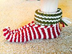 Cozy Knit Elf Slippers.