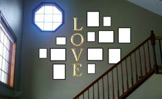 staircase photo display - Google Search