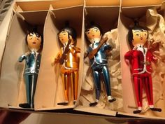 The Beatles original Italian hand-blown glass ornaments from the 1960s.