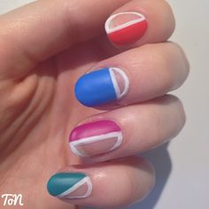 Day 19 of #tippedoffnailartchallengejuly - cut out nails