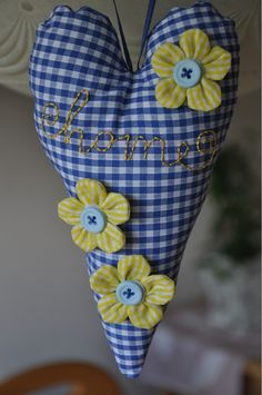 This would be a pretty little pin cushion even if it weren't blue and yellow!