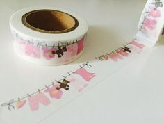 Pink Laundry Banner Washi Tape by GoatGirlMH on Etsy
