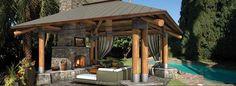 outdoor living ideas | Bungalow | Outdoor Gazebo Structure | Backyard Room Design