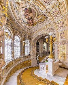 Prince Vladimir's Palace (the House of Scientists), St Petersburg, 🇷🇺. The palace of Grand Duke Vladimir Alexandrovich, son of Emperor Alexander II + younger brother of Alexander III, erected 1862 Architecture Baroque, Beautiful Architecture, Beautiful Buildings, Interior Architecture, Beautiful Places, Ancient Architecture, Palace Interior, Interior And Exterior, Mansion Interior