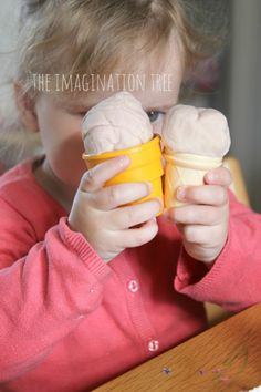Strawberries and Cream Play Dough Recipe - The Imagination Tree