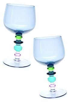 Spectra Wine Glass Set in Caribe