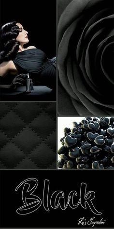 Lu's Inspiration ღ Black Colour Schemes, Color Trends, Color Combos, Color Patterns, Mood Colors, Colours, Jazz Colors, Color Collage, Design Seeds