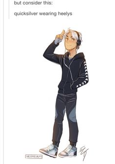 Quicksilver wearing heelys >>> I WANT THIS SO BAD