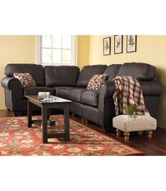 Ultralight Comfort Sectional Sofa, Four-Piece Leather: Sofas at L.L.Bean