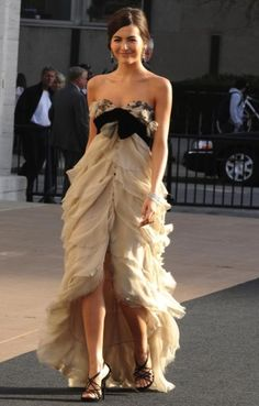 Camilla Belle in a gorgeous YSL dress!