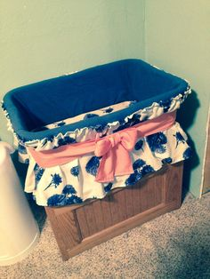 "DIY Bassinet: I LOVE how this turned out! You can hardly tell it was a laundry basket. It took about 6 hours. I got my inspiration from ""http://tweetiepiebaby.blogspot.com/2009/09/done.html?m=1""."
