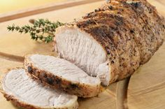 This honey mustard pork tenderloin recipe is an easy and flavorful main dish that your family will love. It uses only six ingredients. Mustard Pork Tenderloin, Cooking Pork Tenderloin, Pork Loin, Dinner Dishes, Food Dishes, Center Cut Pork Roast, Roast Recipes, Honey Mustard, Keto