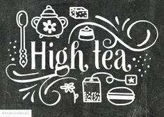 Typographic high tea illustration by http://ankepanke.nl