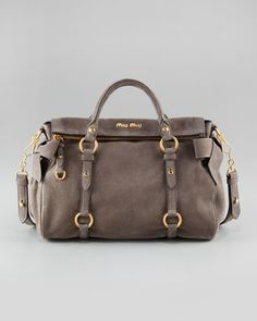 Suede+Bow+Bag,+Medium+by+Miu+Miu+at+Bergdorf+Goodman.
