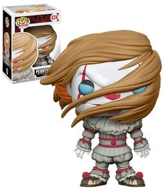 It 2017 Pennywise with Wig US Pop Vinyl Figure By Funko for sale online Funko Pop Horror, Funko Pop Dolls, Comic Villains, Tv Show Music, Pop Toys, Pop Characters, Funko Pop Vinyl, Vinyl Figures, Kids Playing
