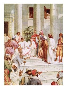 Jesus Brought before Pilate Giclee Print by William Brassey Hole at Art.com