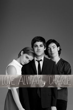 Perks Of Being A Wallflower, 2012. Emma Watson as Sam, Logan Lerman as Charlie, and Ezra Miller as Patrick.