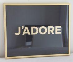 Black & Gold  J'Adore + Made By Girl + Jen Ramos + Print