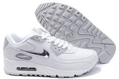 2014 Vente Nike Air Max 90 Chaussures Homme Blanche Grise France Pas Cher Chaussure  Homme c8e5826dcc1