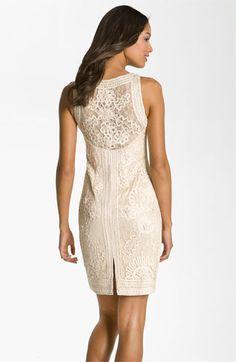 Bridesmaid Sue Wong Illusion Bodice Lace Sheath Dress Nordstrom