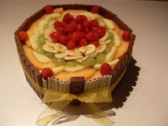 Fruit/chocolate cake
