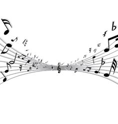 Musical notes vector on VectorStock®